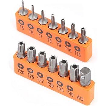 """T40 1//4/""""x25mm 20 Torx Bits Hochleistungsstahl 20855 mit 2 Magnet-Bithaltern"""
