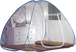 Lvcao 蚊帳 ワンタッチ 折り畳み式 底付き 1ドアタイプ かや 虫除け 蚊よけ 虫よけ シングル シングルベッド ムカデ対策 密度が高い ベビー用 赤ちゃん 持ち運べる 収納便利