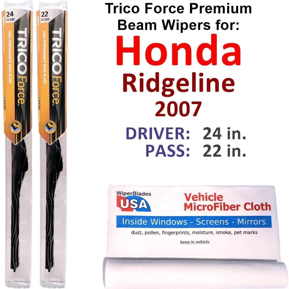 Premium 超激安 Beam Wiper Blades for 2007 For セール特価 Honda Ridgeline Trico Set