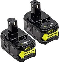 KINGTIANLE 2packs 6.0Ah 18V Replacement Battery for Ryobi 18V Lithium Battery P102 P103 P105 P107 P108 P109 Ryobi ONE+ Cordless Tool