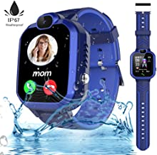 Kids Waterproof Smart Watch Phone for Boys Girls with GPS Tracker 1.44'' HD Touch Screen Two Way Call SOS Math Game Camera Digital Gizmo Wrist Watch iOS Android Students Learning Toys Birthday