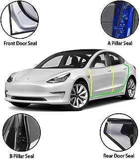 Wisamic Noise Reduction Kit for Tesla Model 3, Door Seal Kit, Soundproof Rubber Weather Draft Seal Strip Wind