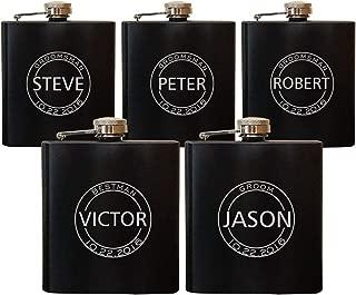wedding flask groomsmen
