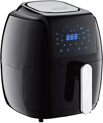 GoWISE USA GW22921-S 5-Quart 8-in-1 Electric Air Fryer + 50 Recipes (Black), 5.0-QT,