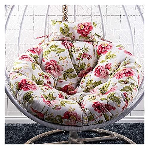 Cojines para exteriores para sillas de patio Cojín de asiento columpio Silla no incluida Almohada de respaldo de silla colgante gruesa para patio interior y exterior Cojines para tumbonas de jardín