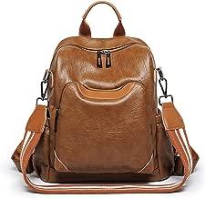 Kenoor Vintage Womens Backpack Casual Daypack Shoulder Bag for Ladies and Girls (Brown)
