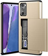 ACOCOBUY Case for Samsung Note 20 Ultra Wallet Case with Card Holder Shockproof Non-Slip Cover Dual Layer Anti-Scratch Hard PC Soft Rubber Bumper Case for Samsung Galaxy Note 20 Ultra 5G 6.9/'/' Gold