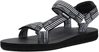 EQUICK Women's Arch Support Athletic Sandal Yoga Mat Insole Beach Shoes Outdoor Sports and Indoor-U219SLX022-N-white-40