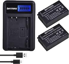 Batmax EN-EL20 Battery (2-Pack) + USB LCD Charger for Nikon EN-EL20 EN-EL20a Nikon P1000,1 J1, 1 J2, 1 J3, 1 S1, 1 V3, Coolpix A, 1 AW1 Blackmagic Pocket Cinema