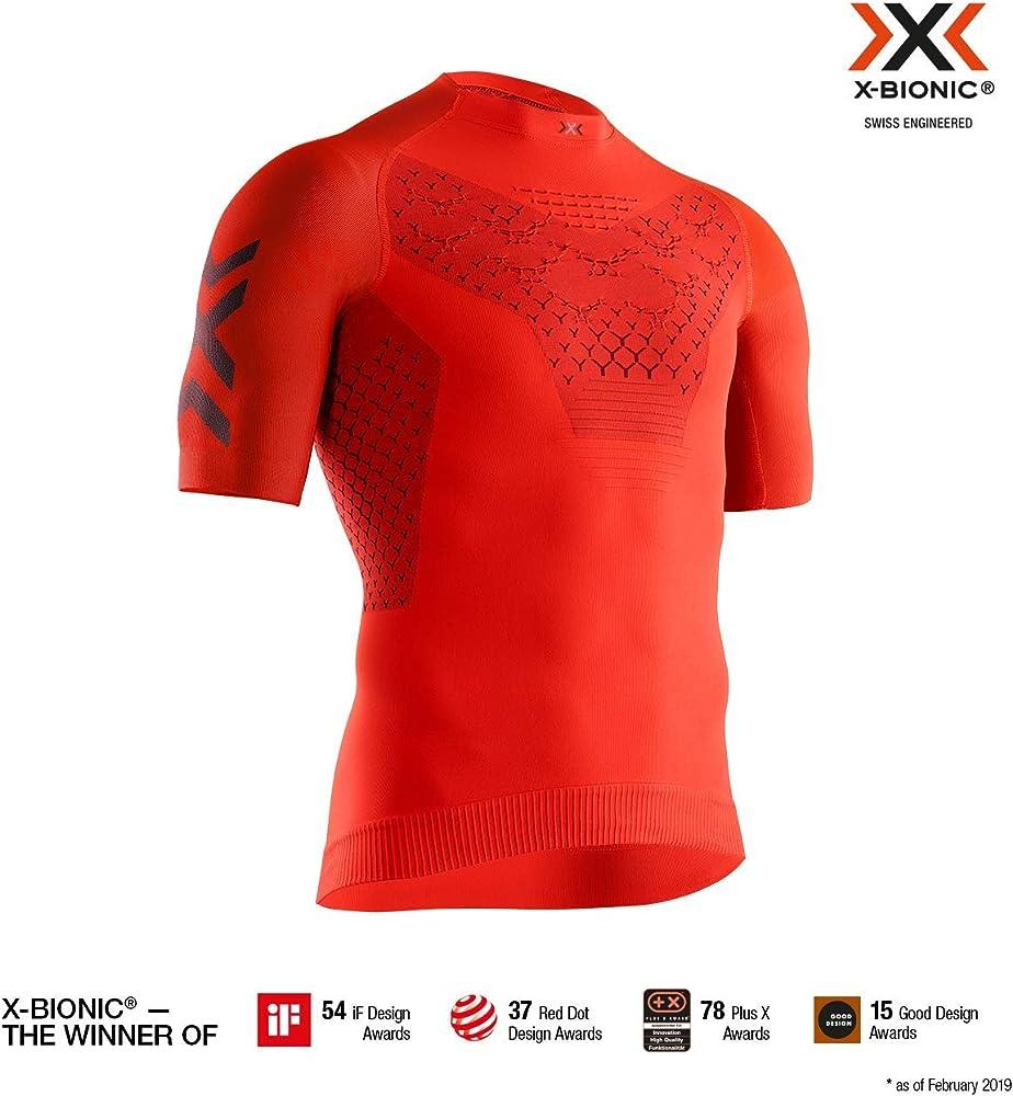 X-bionic twyce 4.0, maglietta da ciclismo per uomo, 90% poliammide, 7% polipropilene, 3% elastan TW-RT00S19M