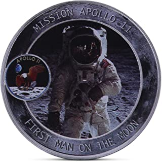 Ladaidra American Astronauts on The Moon Commemorative Coin Collection Gift Souvenir Art Metal Antiqu