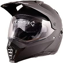 ETH Double lens ECE helmet motocross helmet double mirror helmet mountain helmet motorcycle helmet helmet full cover four seasons universal large helmet durable (Size : L)