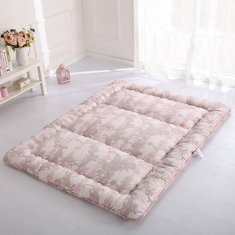 LIUZEIMIN Tatami-matten verdicken,Japaner Falten Drucken Baumwolle Mat Weiche Tatami Teppich pad-F 100x200cm(39x79inch)