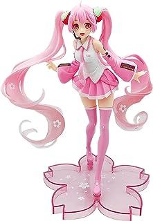 Animeフィギュアおもちゃ、アニメキャラクターモデル初音ミク2019ピンク初音のおもちゃ手オフィス人形子供の贈り物