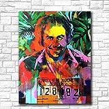 Leinwand-Malerei Innen Neue Art Und Weise Pablo Escobar HD-Ölgemälde For Wohnzimmer Hauptdekoration Auf Leinwand Wandgemälde-Wand-Kunst Keinen Rahmen Gemälde Hängen (Size (Inch) : 16X20)