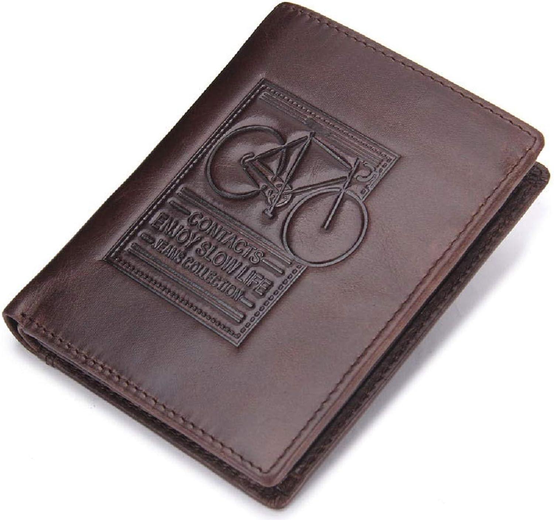 WFF Herrenportemonnaie, dreifache dreifache dreifache Lederkupplung, europäische und amerikanische Mode mit geprägtem Portemonnaie für Herren,Dunkler Kaffee,cm B07N4P1K8C c3d944