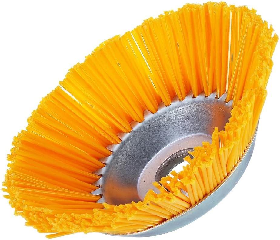 SolloPlay - Cabezal de cepillo para desherbicida de hilo de nailon, tipo de cuenco para rueda universal, cepillo para desbrozadora de césped, jardín, agricultura