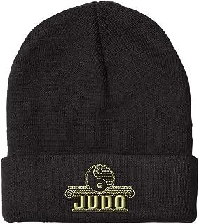 Custom Beanie for Men & Women Judo Sports A Embroidery Acrylic Skull Cap Hat