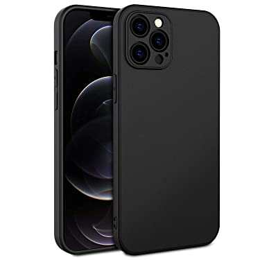 EasyAcc Slim Case for iPhone 12 Pro Max, Thin Matte Black TPU Phone Cases Finish Profile Soft Back Protective Cover Compatible with iPhone 12 Pro Max 2020 6.7 inch