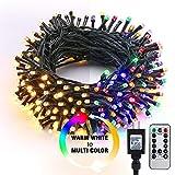 Brizled LED String Lights, 65.67ft 200 LED 9-Function Color Changing Warm White Multi Color Fairy Lights,...