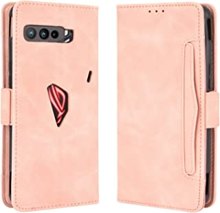 Phone Leather Case For Asus ROG Phone 3 ZS661KS Wallet Style Skin Feel Calf Pattern Leather Case ,with Separate Card Slot...
