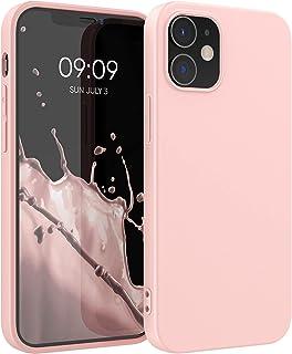 kwmobile telefoonhoesje compatibel met Apple iPhone 12/12 Pro - Hoesje voor smartphone - Back cover in mat roségoud