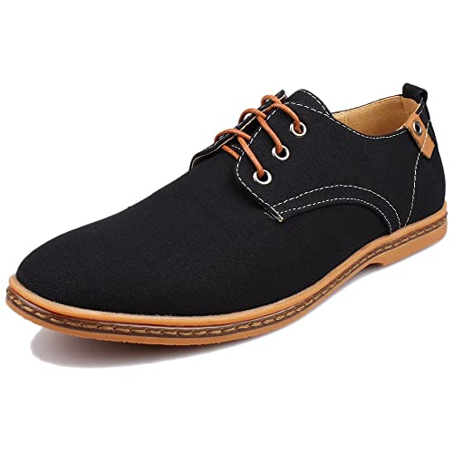a21607a68b8 Kunsto Men s Canvas Oxford Shoes Lace up