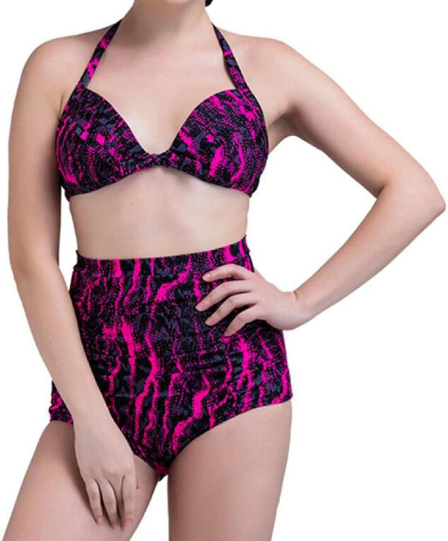 CHENGXIAOXUAN Art Und Weise Druck Badebekleidung Dame Strand Split Hohe Größe Bademode Sexy Konservativ Elastisch Bikini B0739T5VZC  Neueste Technologie