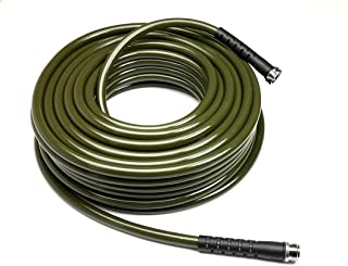 Water Right 600 Series PolyurethaneDrinking Water SafeGarden Hose, 100-Foot by 5/8-Inch, Brass Fittings, Olive Green, USA Made