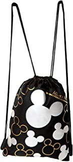 Mickey Mouse Drawstring Backpack Silver 2 Pack
