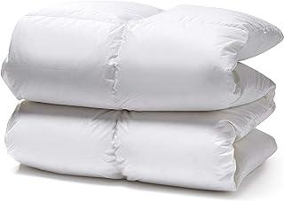 White Cloudz - Couette en Duvet KAPRUN d'hiver - 90% Duvet d'oie européenne - Percale 100% Coton mako - 240 x 220 cm - 1250 g