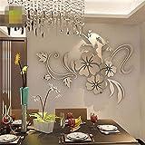 JiaMeng Pegatina de Pared, Elegante Hoja desprendible 3D Love Etiqueta de la Pared calcomanías de Vinilo de Arte decoración del Dormitorio (B, tamaño Libre)