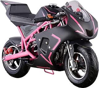 MotoTec Cali 40cc Gas Pocket Bike in Pink