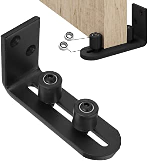 EaseLife Heavy Duty Sliding Barn Door Floor Guide,Ball Bearings Adjustable Stay Roller,Wall Mount System,Flush Bottom Design,Floor and Door Panel Non-Damage,2-in-1 Assemble Setup,Fit All Size Door