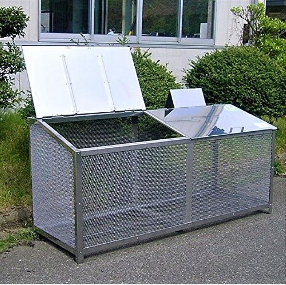 腐敗しないでください昨日サステック ゴミ収納BOX ワンニャンカア F-180M  『ゴミ袋(45L)集積目安 13袋、世帯数目安 9~12世帯』『ゴミ収集庫』『ダストボックス ゴミステーション 屋外 ステンレス』