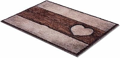 ASTRA Paillasson doux et moelleux Pure & Soft – Paillasson coloré – Paillasson intérieur – Tapis résistant – 50 x 70 cm (couleur : bois cœur marron sable)