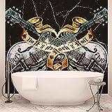 Guitarra Rock Roll Heavy Metal Papel pintado fotográfico–cuadro de papel...