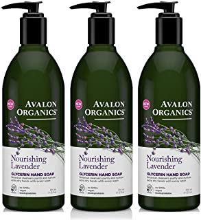 Avalon Organics Nourishing Lavender Glycerin Hand Soap, 12 Fl Ounce (Pack of 3)