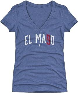 500 LEVEL Javier Baez Women's Shirt - Chicago Baseball Women's Apparel - Javier Baez El Mago Name Number