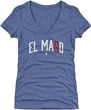 500 LEVEL Javier Baez Women's Shirt - Chicago Baseball Shirt for Women - Javier Baez El Mago Name Number