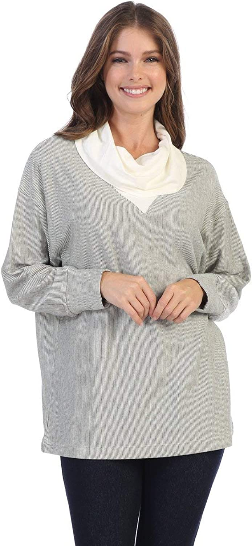 Fashion Focus Striped Cowl Neck Tunic Top