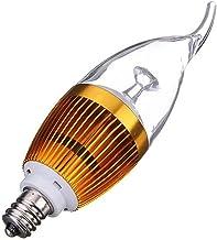 SGJFZD E12 3W AC85-265V Warm White Golden Cover LED Candle Light Bulb