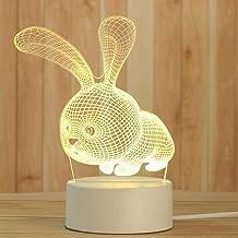 WZWHJ mooie 3D Nachtlampje Acryl Decoratie Nachtlampje Slaapkamer Nachtkastje Lamp-Champagne (Kleur: Oranje)