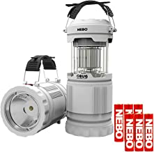 NEBO Z Bug Lantern Light and Bug Zapper, Portable Outdoor LED Light with NUV LEDs Bundle Includes 6 AA Batteries