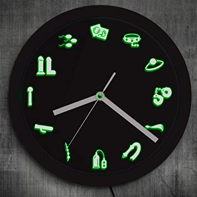 The Geeky Days Adult Shop Business Neon Sign LED Wall Clock Sex Entertainment Wall Clock Modern