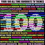 Your 100 All Time Favourite TV Themes