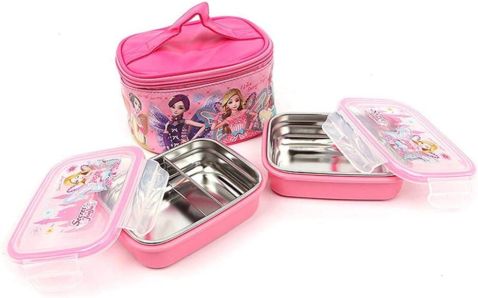 Manufacturer Chicago Mall OFFicial shop Secret JOUJU Stainless Steel Lunch Set Leak Insulated Box Double