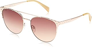 JUST CAVALLI Women's JC750S 28G 56 Sunglasses, Gold (Oro Rosa Lucido/Marrone Specchiato) (JC750S 28G 56 28G)