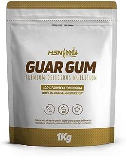 Goma Guar de HSN Foods - Espesante Natural y Saludable para Recetas – Fuente de Fibra, Saciante - Sin Gluten, Sin Lactosa, Apto Veganos, En Polvo - 1kg