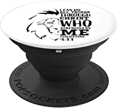Christian Gifts Men Lion Judah Religious Bible Verse Sayings PopSockets Grip and Stand for Phones and Tablets